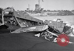 Image of Wrecked amphibious craft Iwo Jima, 1945, second 4 stock footage video 65675036298