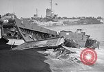 Image of Wrecked amphibious craft Iwo Jima, 1945, second 9 stock footage video 65675036298