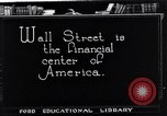 Image of the financial center-Wall Street New York United States USA, 1925, second 9 stock footage video 65675036356
