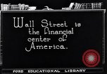 Image of the financial center-Wall Street New York United States USA, 1925, second 11 stock footage video 65675036356