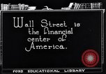 Image of the financial center-Wall Street New York United States USA, 1925, second 12 stock footage video 65675036356