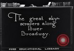 Image of skyscrapers in lower Broadway New York United States USA, 1925, second 4 stock footage video 65675036357