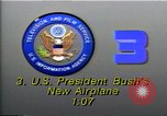 Image of new Air Force One plane Washington DC USA, 1990, second 4 stock footage video 65675036377