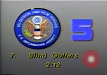 Image of National Blind Golf Championship Florida United States USA, 1990, second 2 stock footage video 65675036381
