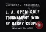Image of Los Angeles Open Golf Tournament Los Angeles California USA, 1937, second 1 stock footage video 65675036424