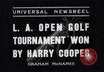 Image of Los Angeles Open Golf Tournament Los Angeles California USA, 1937, second 2 stock footage video 65675036424