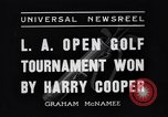 Image of Los Angeles Open Golf Tournament Los Angeles California USA, 1937, second 4 stock footage video 65675036424