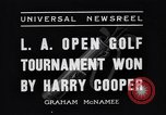 Image of Los Angeles Open Golf Tournament Los Angeles California USA, 1937, second 6 stock footage video 65675036424