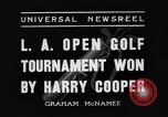 Image of Los Angeles Open Golf Tournament Los Angeles California USA, 1937, second 8 stock footage video 65675036424