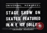 Image of New York Ice Follies New York City USA, 1937, second 1 stock footage video 65675036426