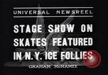 Image of New York Ice Follies New York City USA, 1937, second 2 stock footage video 65675036426