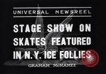 Image of New York Ice Follies New York City USA, 1937, second 3 stock footage video 65675036426