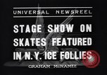 Image of New York Ice Follies New York City USA, 1937, second 4 stock footage video 65675036426