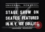 Image of New York Ice Follies New York City USA, 1937, second 5 stock footage video 65675036426
