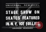 Image of New York Ice Follies New York City USA, 1937, second 7 stock footage video 65675036426