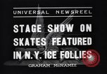 Image of New York Ice Follies New York City USA, 1937, second 9 stock footage video 65675036426