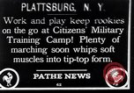 Image of Citizens Military Training Camp Plattsburgh New York USA, 1914, second 1 stock footage video 65675036432
