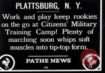 Image of Citizens Military Training Camp Plattsburgh New York USA, 1914, second 2 stock footage video 65675036432