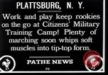Image of Citizens Military Training Camp Plattsburgh New York USA, 1914, second 3 stock footage video 65675036432
