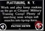 Image of Citizens Military Training Camp Plattsburgh New York USA, 1914, second 4 stock footage video 65675036432