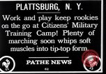 Image of Citizens Military Training Camp Plattsburgh New York USA, 1914, second 5 stock footage video 65675036432