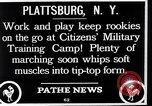 Image of Citizens Military Training Camp Plattsburgh New York USA, 1914, second 6 stock footage video 65675036432