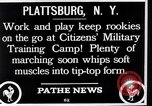 Image of Citizens Military Training Camp Plattsburgh New York USA, 1914, second 11 stock footage video 65675036432