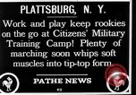 Image of Citizens Military Training Camp Plattsburgh New York USA, 1914, second 12 stock footage video 65675036432