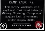 Image of Citizens Military Training Camp Camp Knox Kentucky USA, 1921, second 1 stock footage video 65675036434