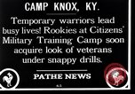 Image of Citizens Military Training Camp Camp Knox Kentucky USA, 1921, second 2 stock footage video 65675036434