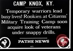 Image of Citizens Military Training Camp Camp Knox Kentucky USA, 1921, second 4 stock footage video 65675036434
