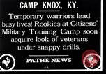 Image of Citizens Military Training Camp Camp Knox Kentucky USA, 1921, second 10 stock footage video 65675036434