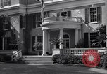 Image of Car arrives at Springwood Hyde Park New York USA, 1936, second 6 stock footage video 65675036471