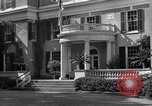 Image of Car arrives at Springwood Hyde Park New York USA, 1936, second 7 stock footage video 65675036471
