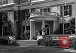 Image of Car arrives at Springwood Hyde Park New York USA, 1936, second 11 stock footage video 65675036471