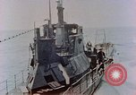 Image of HMIS SUTLEJ sinking Japanese submarine I-155 Japan, 1946, second 6 stock footage video 65675036522
