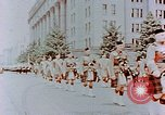 Image of British forces march at Japanese Imperial Palace Plaza Japan, 1946, second 2 stock footage video 65675036525