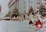 Image of British forces march at Japanese Imperial Palace Plaza Japan, 1946, second 9 stock footage video 65675036525