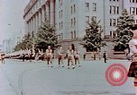 Image of British forces march at Japanese Imperial Palace Plaza Japan, 1946, second 11 stock footage video 65675036525