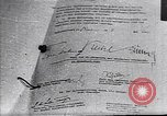 Image of Surrender document ending World War II in Europe Moscow Russia Soviet Union, 1945, second 1 stock footage video 65675036540