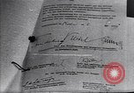 Image of Surrender document ending World War II in Europe Moscow Russia Soviet Union, 1945, second 2 stock footage video 65675036540