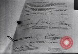 Image of Surrender document ending World War II in Europe Moscow Russia Soviet Union, 1945, second 3 stock footage video 65675036540