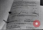 Image of Surrender document ending World War II in Europe Moscow Russia Soviet Union, 1945, second 5 stock footage video 65675036540