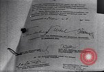 Image of Surrender document ending World War II in Europe Moscow Russia Soviet Union, 1945, second 7 stock footage video 65675036540
