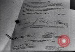 Image of Surrender document ending World War II in Europe Moscow Russia Soviet Union, 1945, second 8 stock footage video 65675036540