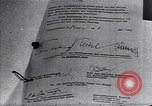 Image of Surrender document ending World War II in Europe Moscow Russia Soviet Union, 1945, second 10 stock footage video 65675036540