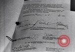 Image of Surrender document ending World War II in Europe Moscow Russia Soviet Union, 1945, second 11 stock footage video 65675036540