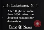 Image of Gref Zeppelin Lakehurst New Jersey USA, 1928, second 1 stock footage video 65675036609