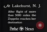 Image of Gref Zeppelin Lakehurst New Jersey USA, 1928, second 6 stock footage video 65675036609