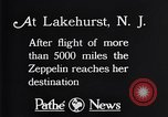 Image of Gref Zeppelin Lakehurst New Jersey USA, 1928, second 11 stock footage video 65675036609